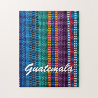 Traditional Guatemala fabric weave custom text Jigsaw Puzzle