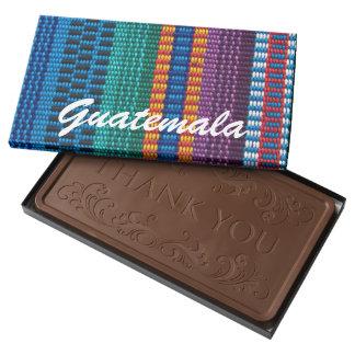 Traditional Guatemala fabric weave custom text Milk Chocolate Bar
