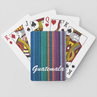 Traditional Guatemala fabric weave custom text Playing Cards