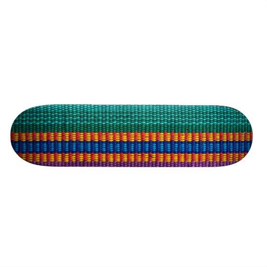 Traditional Guatemala fabric weave Skateboard Deck