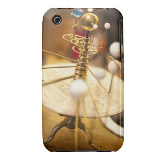Traditional handcrafted brass orrery with the iPhone 3 cover