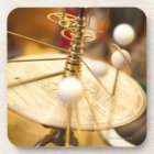 Traditional handcrafted brass orrery with the coaster
