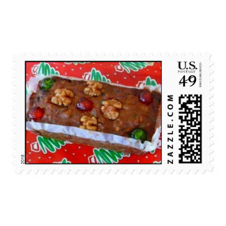 Traditional Holiday Fruitcake Stamps