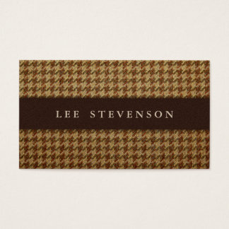 Traditional Houndstooth Business Card