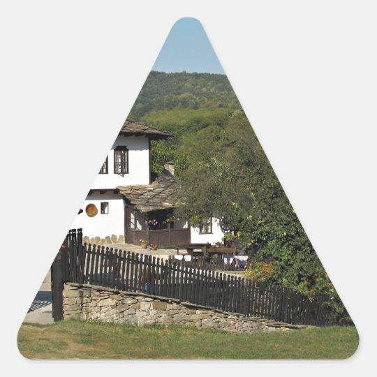 Traditional house in village Preserve Bojenci Triangle Sticker