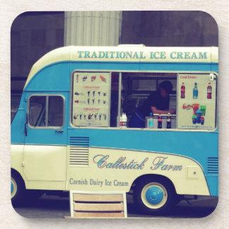 Traditional ice cream vintage cute truck beverage coaster