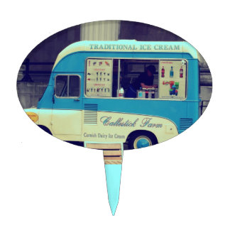 Traditional ice cream vintage cute truck cake topper
