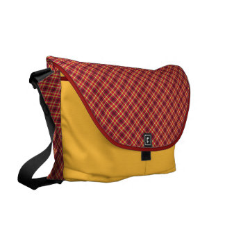 Traditional in red and yellow courier bag