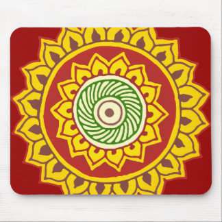 Traditional Indian style Mandana Mouse Pad