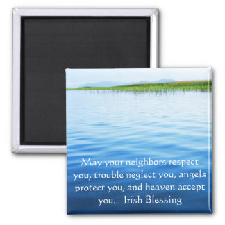 Traditional Irish Blessing 2 Inch Square Magnet