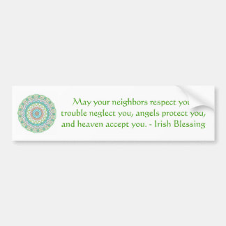 Traditional Irish Blessing Car Bumper Sticker