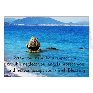 Traditional Irish Blessing Card