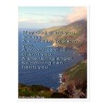 Traditional Irish Blessing, Ireland coastline Postcard