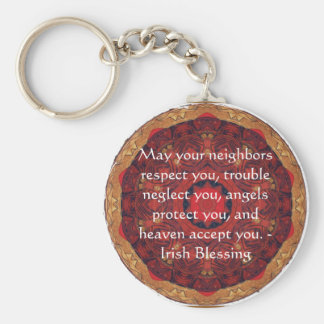 Traditional Irish Blessing Keychain