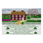 Traditional Irish Blessing Poster