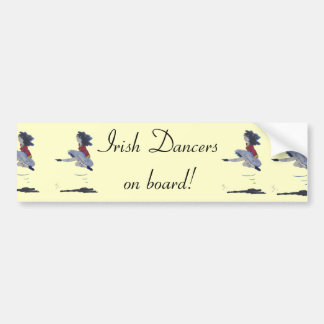 Traditional Irish Dancing Cartoon Bumper Sticker