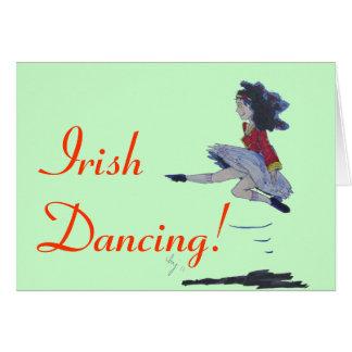Traditional Irish Dancing Cartoon Card