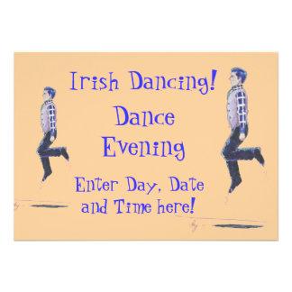 Traditional Irish Dancing Cartoon Personalized Invite