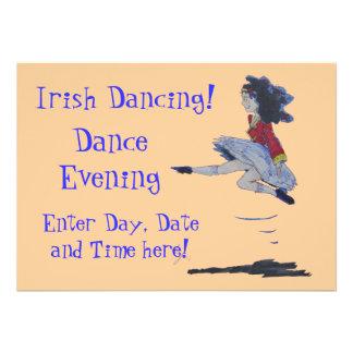 Traditional Irish Dancing Cartoon Custom Invites