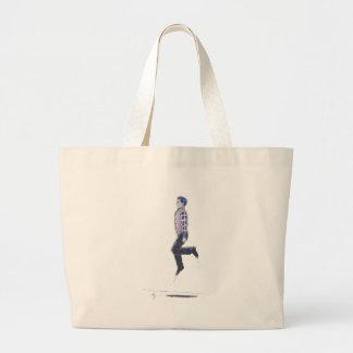 Traditional Irish Dancing Cartoon Large Tote Bag