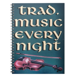 Traditional Irish Music Notebook