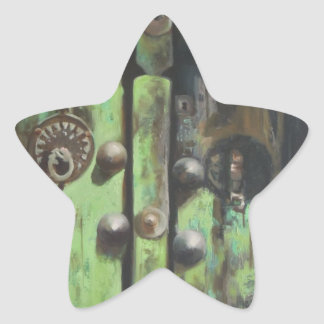 traditional isfahan door star sticker
