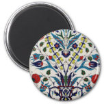 Traditional islamic floral design tiles refrigerator magnets