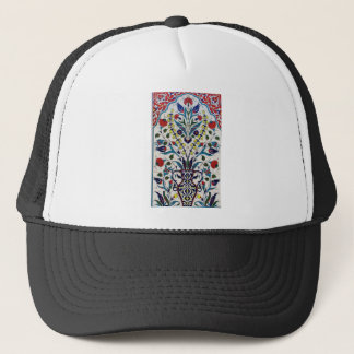 Traditional islamic floral design tiles trucker hat