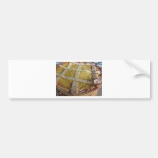 Traditional italian cake Pastiera Napoletana Bumper Sticker