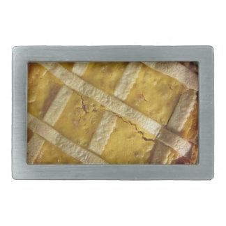 Traditional italian cake Pastiera Napoletana Rectangular Belt Buckle