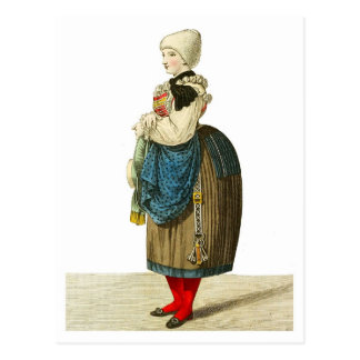 Traditional Italian costume of Sterzing Postcard