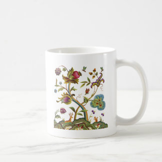 Traditional Jacobean Deerwood Embroidery Coffee Mug