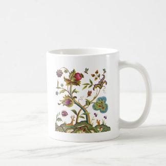 Traditional Jacobean Deerwood Embroidery Coffee Mug