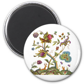 Traditional Jacobean Deerwood Embroidery Magnet
