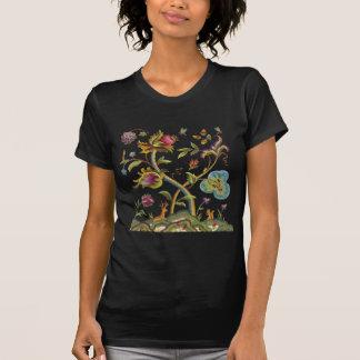 Traditional Jacobean Deerwood Embroidery Tee Shirt