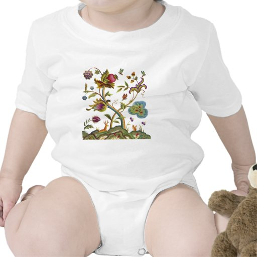 Traditional Jacobean Deerwood Embroidery Tee Shirt