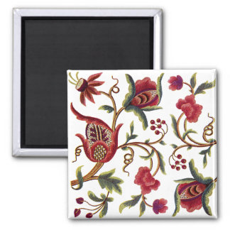 Traditional Jacobean Embroidery Pattern Magnet