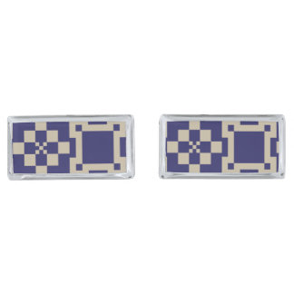 Traditional Japanese Block Patterns Cufflinks