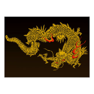 Traditional Japanese Dragon Poster