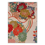 Traditional Japanese fabric design Card