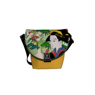 Traditional Japanese Geisha Courier Bag