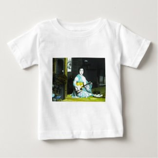 Traditional Japanese Geisha Musician Serving Tea Baby T-Shirt