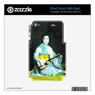 Traditional Japanese Geisha Musician Serving Tea iPod Touch 4G Skin