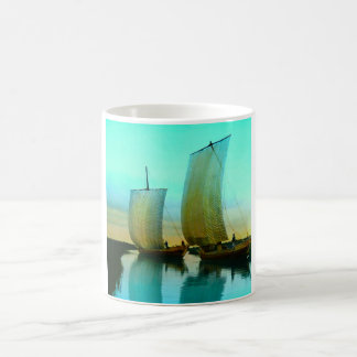 Traditional Japanese Junks Fishing Boats Vintage Coffee Mug