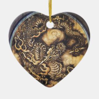 Traditional Japanese Oriental Dragon - 日本 - 鳴き龍 Ceramic Ornament