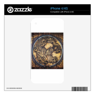 Traditional Japanese Oriental Dragon - 日本 - 鳴き龍 Decal For iPhone 4S