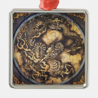 Traditional Japanese Oriental Dragon - 日本 - 鳴き龍 Metal Ornament