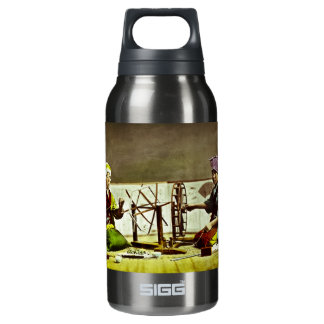 Traditional Japanese Silk Weavers Insulated Water Bottle