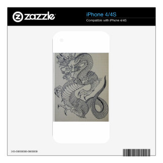 TRADITIONAL JAPANESE STYLE DRAGON DECALS FOR THE iPhone 4