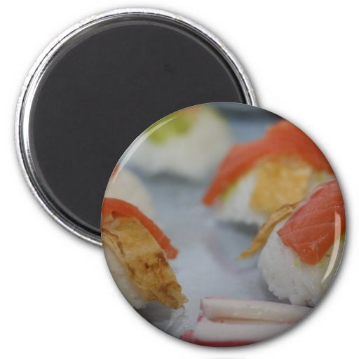 Traditional Japanese Sushi 2 Inch Round Magnet